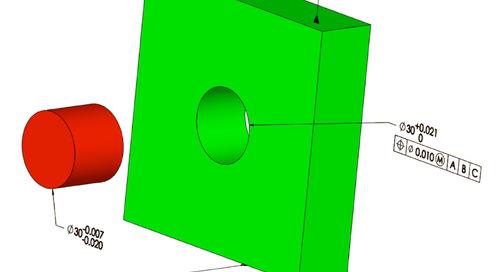 Material modifiers & fits: MMC, LMC & RFS modifiers & fit tolerances