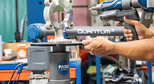 Alcance ampliado: O 8-Axis Arm permite que os usuários se concentrem na medição