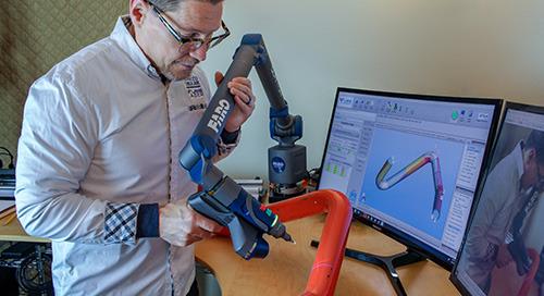 VTube & Quantum Arm: winning combination for tube measuring