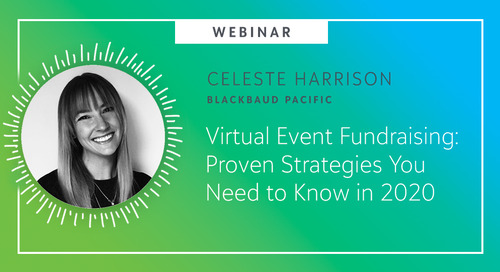 Virtual Event Fundraising: Proven Strategies You Need to Know in 2020 - Webinar On-Demand