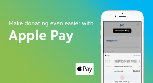 Effortless Donations in One Touch: Apple Pay Now Available