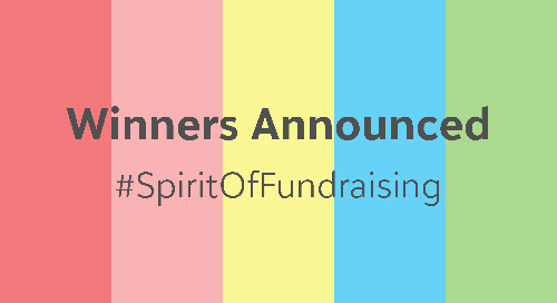 Winners Announced #SpiritOfFundraising