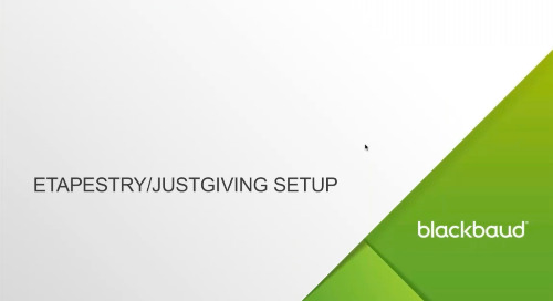 ▶️ Integrate JustGiving with Blackbaud eTapestry®