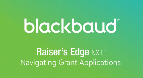 VIDEO: Navigating Grant Applications in Raiser's Edge NXT