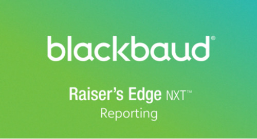 VIDEO: Reporting in Raiser's Edge NXT