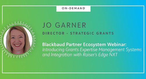 ▶ On-Demand Webinar: Strategic Grants - Introducing Grants Expertise Management Systems