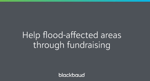 Help Flood-Affected Areas Through Fundraising: Information + FAQ