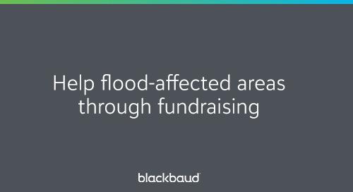 Help Flood-Affected Areas Through Fundraising: Information + FAQ
