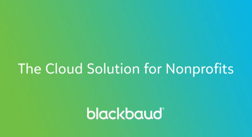 VIDEO: Blackbaud Cloud Solutions for Nonprofits