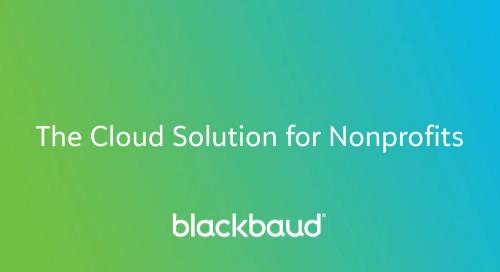 VIDEO: Blackbaud Cloud Solutions for Nonprofits