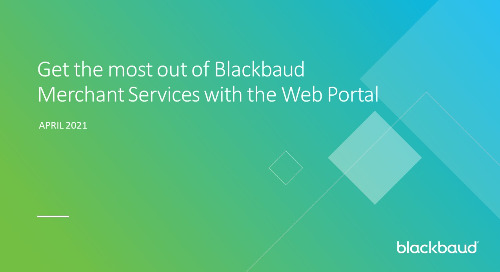 ▶ On-Demand Webinar: Blackbaud Merchant Services Web Portal Training