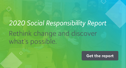 Just Released! Blackbaud's 2020 Social Responsibility Report