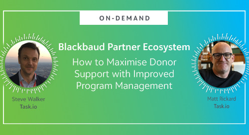 On-Demand ▶: How to Maximise Donor Support with Improved Program Management