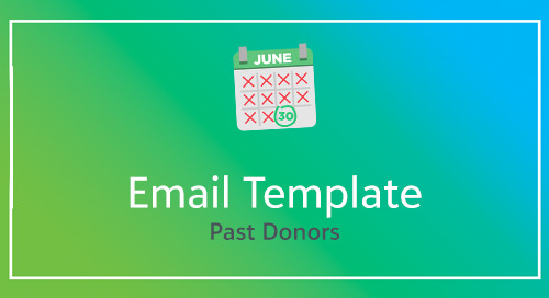 Email Template for Past Donors