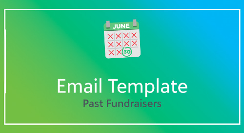 Email Template for Past Fundraisers