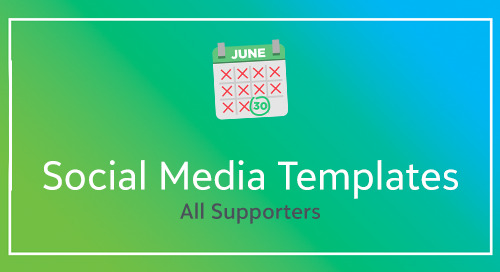 Social Media Templates for Supporters