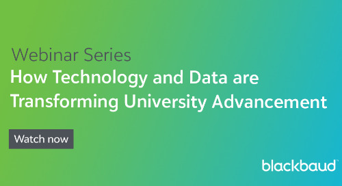 Webinar Series 🎥: How Technology and Data are Transforming University Advancement