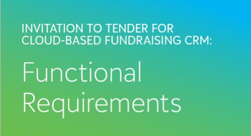 CRM Requirements Checklist for Nonprofits