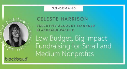 [New Webinar] Low Budget, Big Impact Fundraising for Small and Medium Nonprofits
