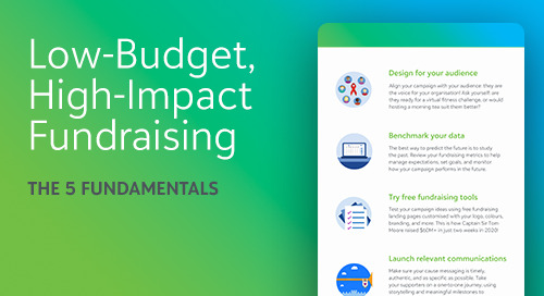 Low-Budget, High-Income Fundraising: the 5 Fundamentals [Infographic]