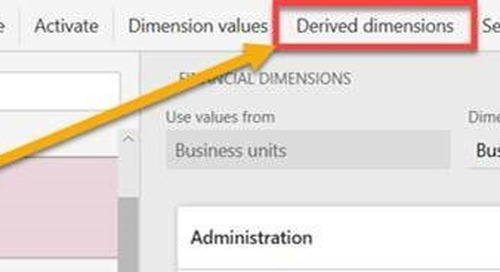 Derived Financial Dimensions Updates with D365FO version 8.1.2