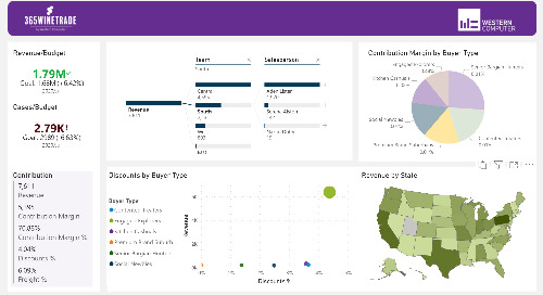 Power BI Interactive Dashboard: 365WineTrade Sales