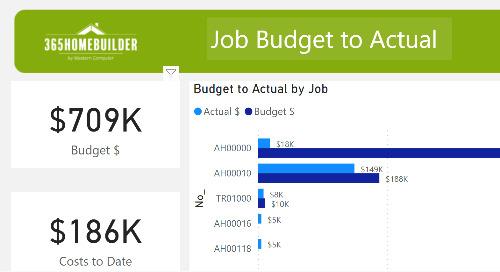 365HomeBuilder: Job Budget to Actual