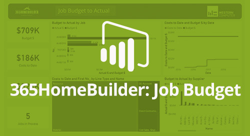 Power BI Interactive Dashboard: 365HomeBuilder Job Budget to Actual