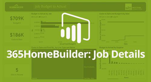 Power BI Interactive Dashboard: 365HomeBuilder Job Details