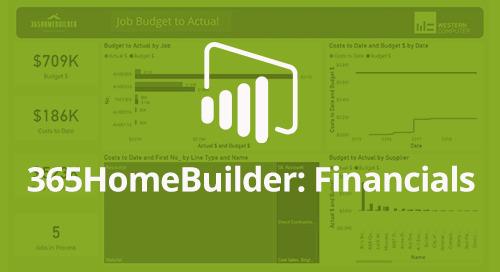 Power BI Interactive Dashboard: 365HomeBuilder Financials