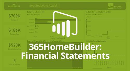Power BI Interactive Dashboard: 365HomeBuilder Financial Statements