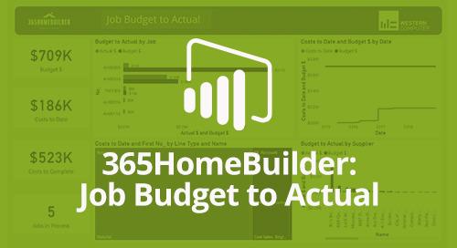 Power BI Interactive Dashboard: 365HomeBuilder Job Budget to Actual