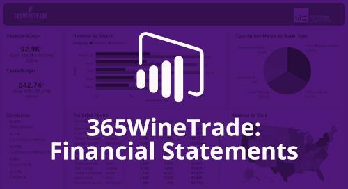 Power BI Interactive Dashboard: 365WineTrade Financial Statements