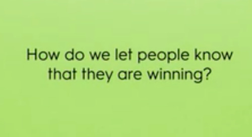 How do we let people know that they are winning?