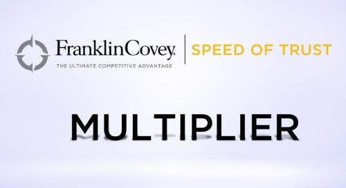 Speed Of Trust - Multiplier