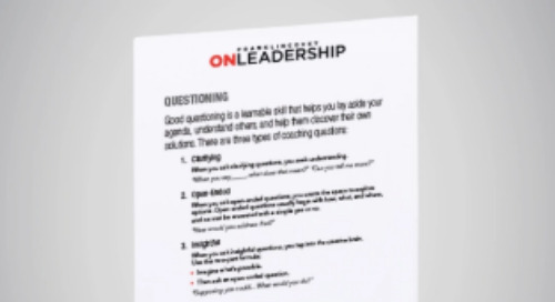 On Leadership: 3 Questions For Effective Coaching