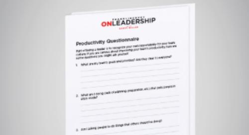 Productivity Questionnaire