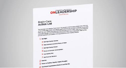 Brain Care Action List