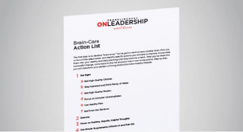 Brain Care Action List