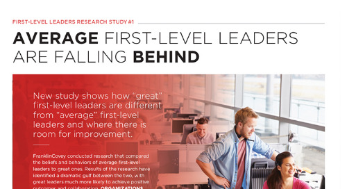 First-Level Leaders Research Study #1