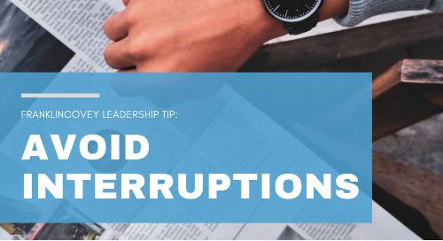 Avoid Interruptions