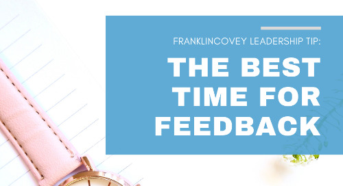 The Best Time for Feedback