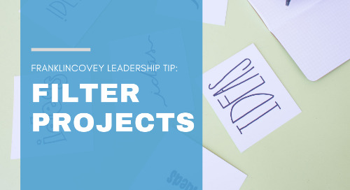 Filtering Projects