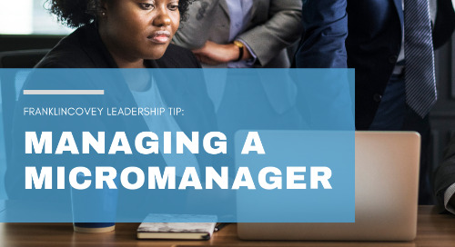 Managing a Micromanager