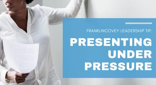 Presenting Under Pressure