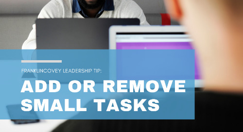 Add or Remove Small Tasks