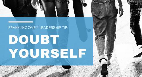 Doubt Yourself