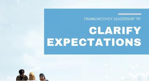 Clarify Expectations