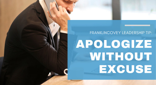 Apologize Without Excuse
