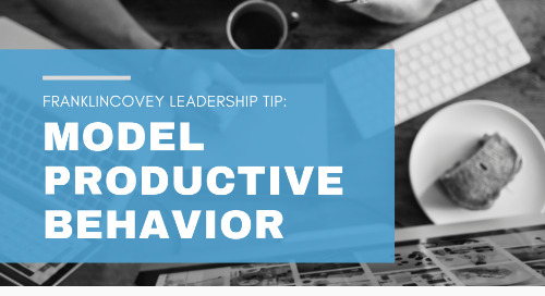 Model Productive Behavior
